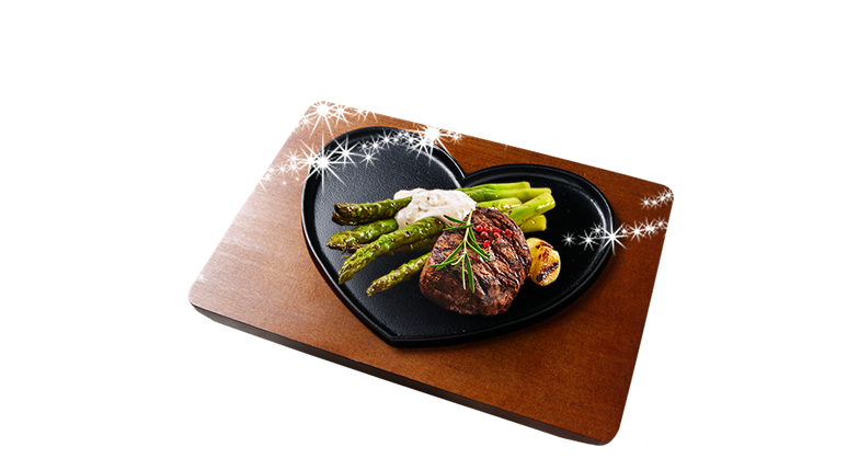 product:01 ハートのステーキ皿