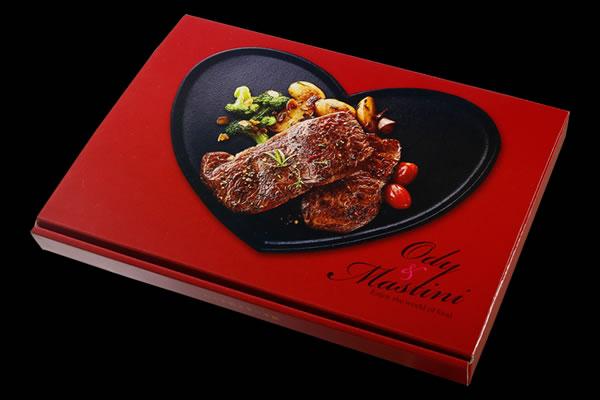ハートのステーキ皿
